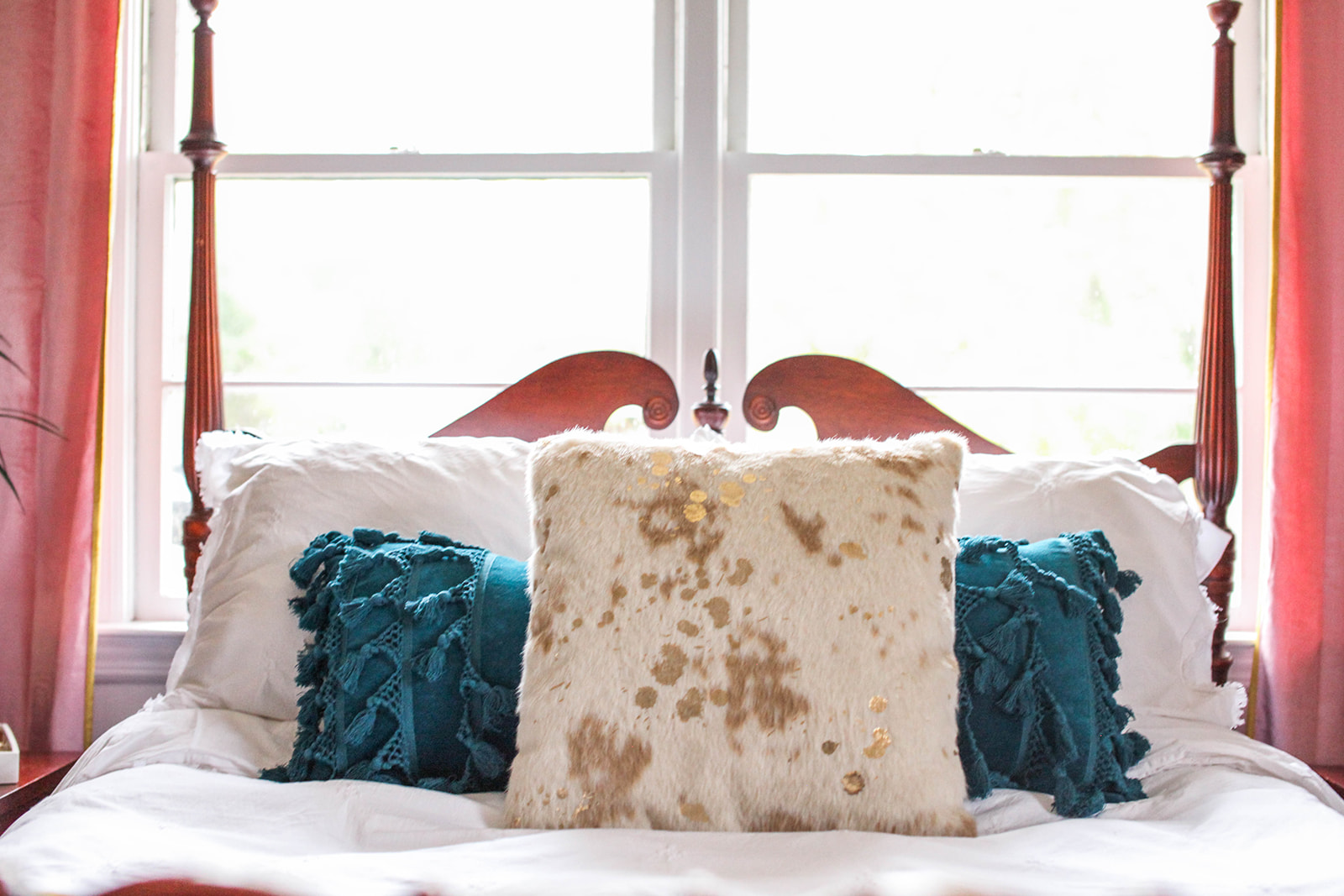 faux cowhide pillow  //  oversized lumbar