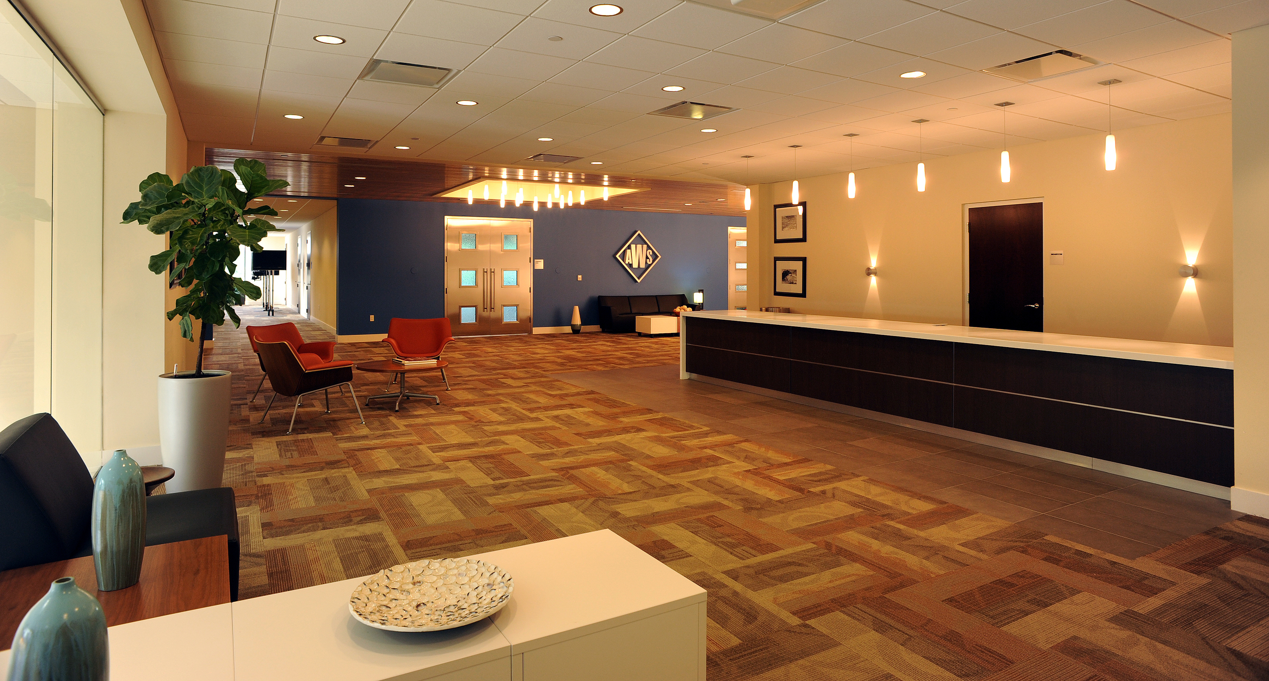 Conference center lobby and bar