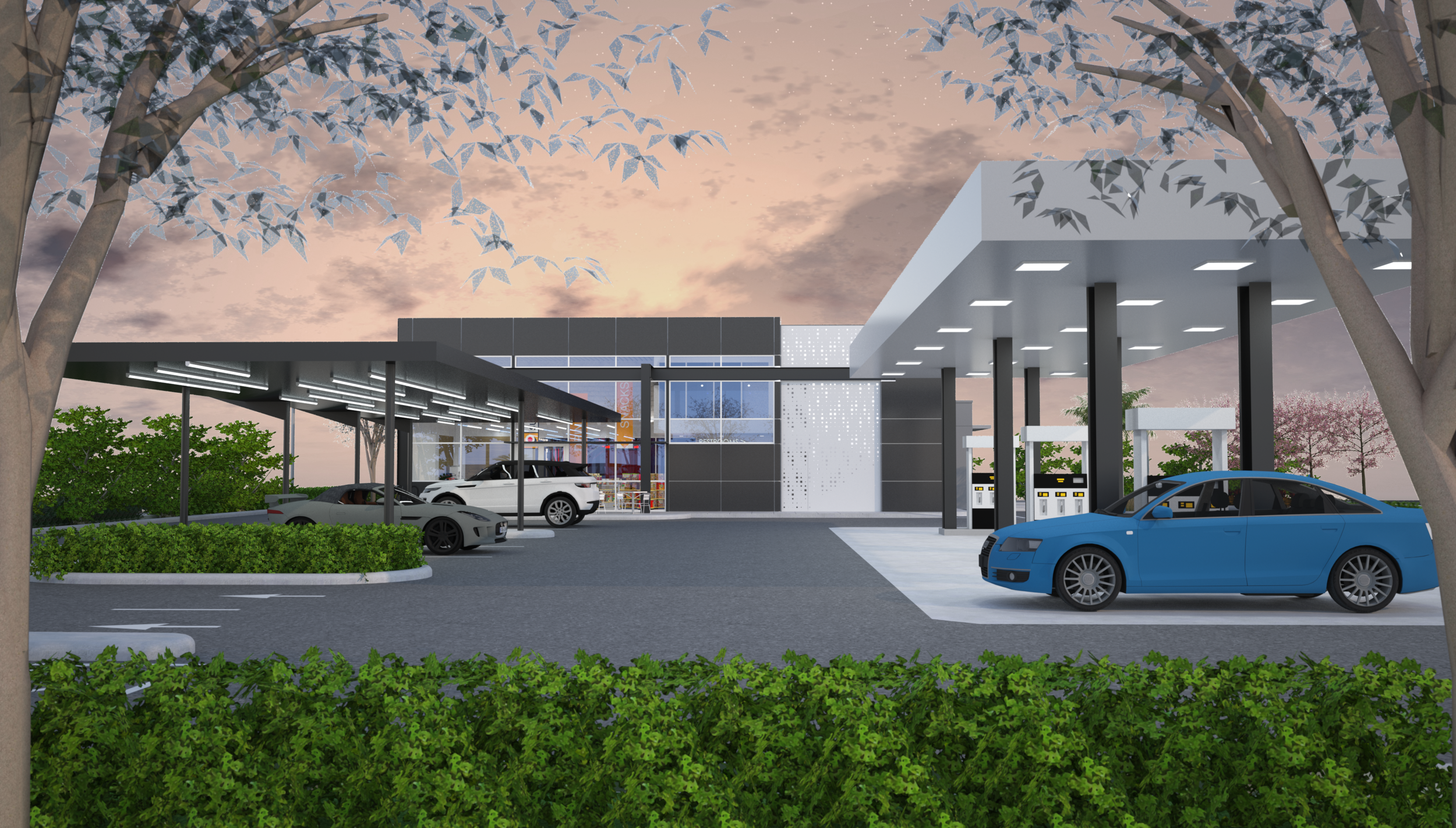 Car Wash Boca Raton >> Boca Raton Filling Station Car Wash Oa Architecture