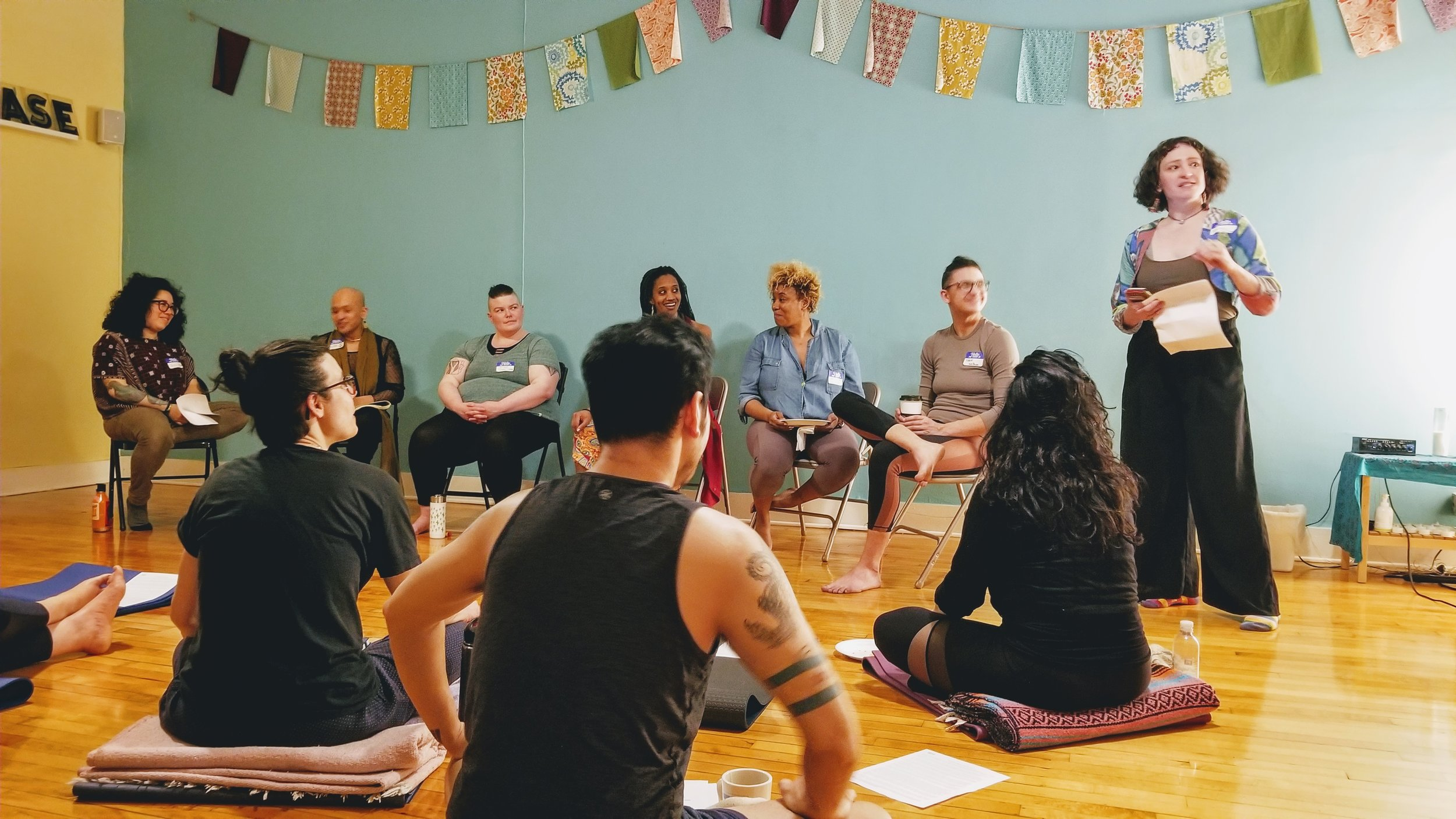 SEYN Spring 2019 Gathering at Ganesha Yoga and Adventures in Fitness.