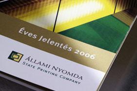 Állami Nyomda Annual Report
