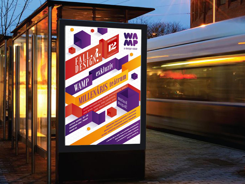 WAMP plakát és sajtó - Fall Design