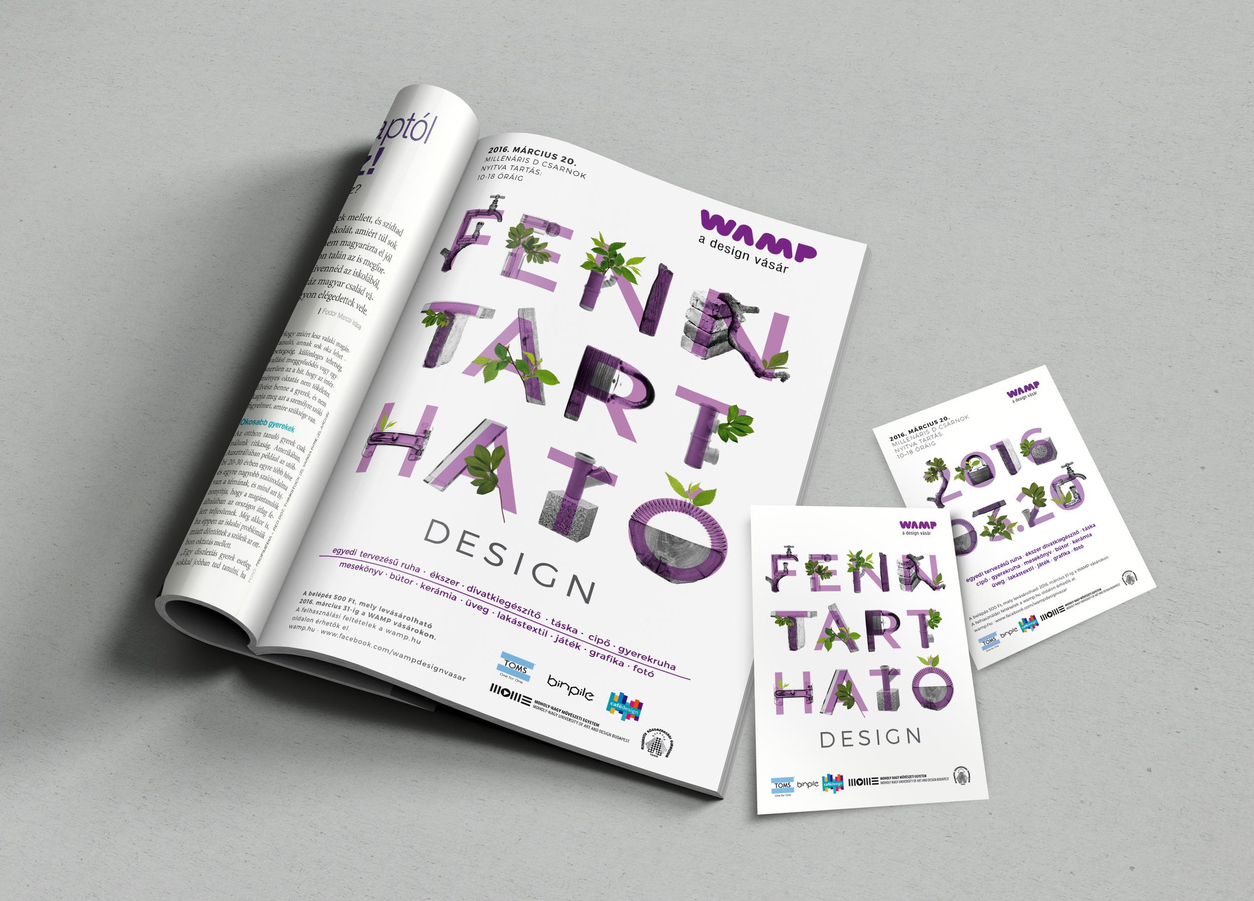 WAMP plakát és sajtóhirdetés - Spring Design