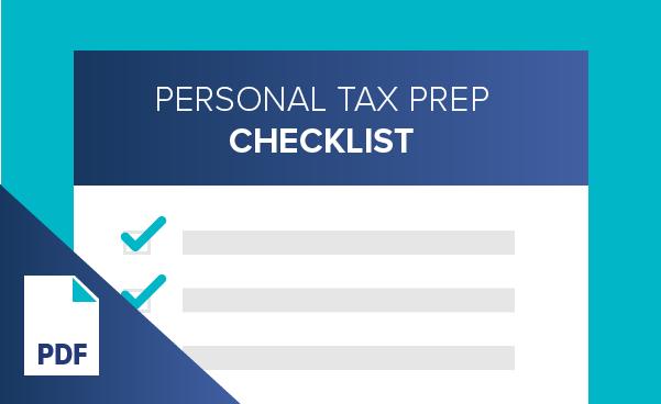 Personal Tax Preparation Checklist
