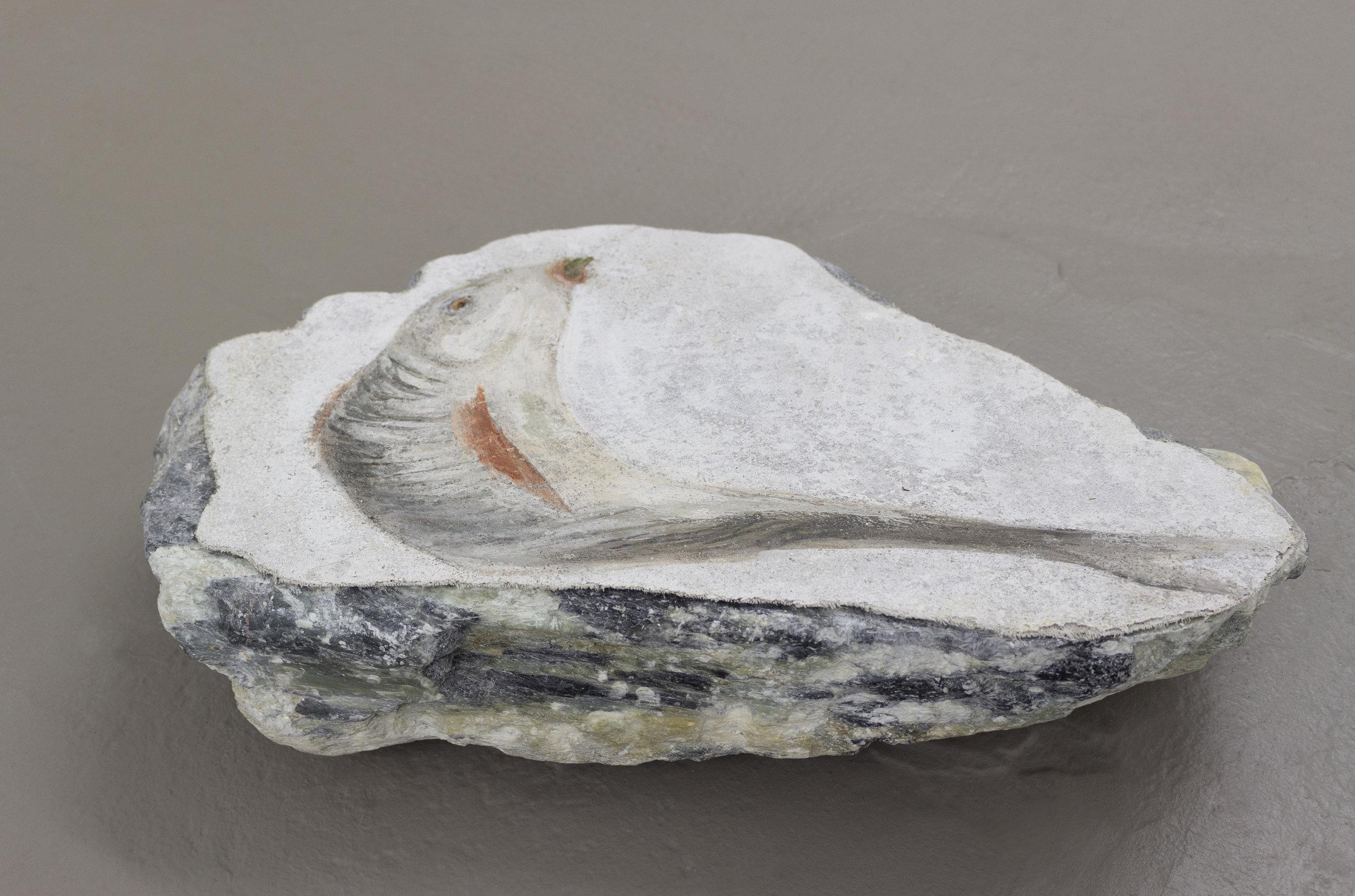 Fish, Fresco's strappo on stone