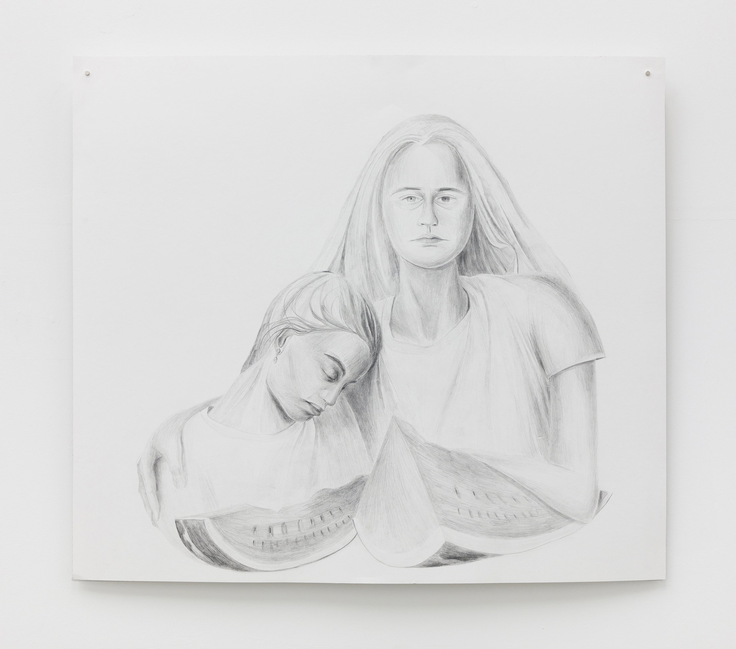 Lucia, Graphite drawing on paper
