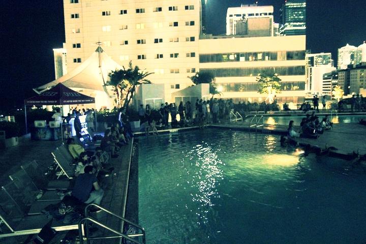 Rooftop Poolside Screening
