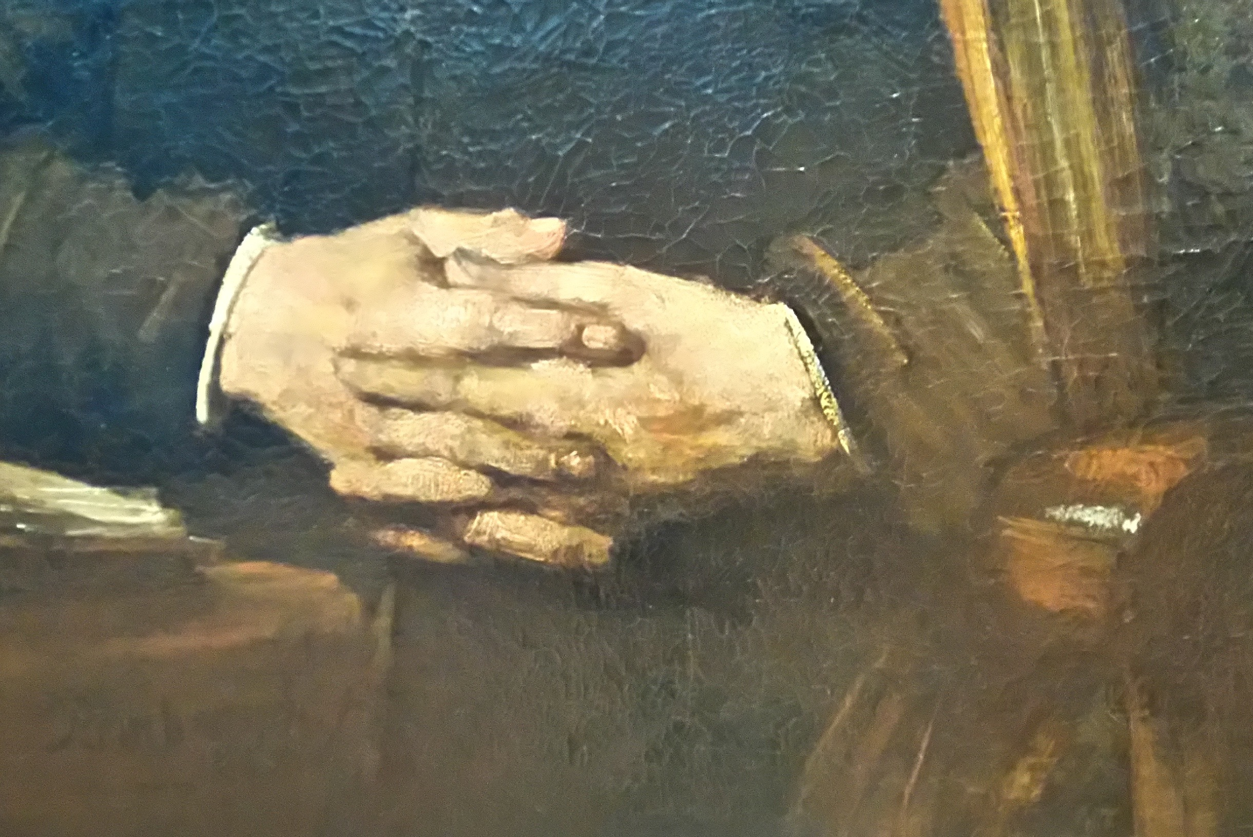 Rembrandt Self Portrait Hands