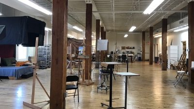 The beautiful studios and hall at Townsend Atelier