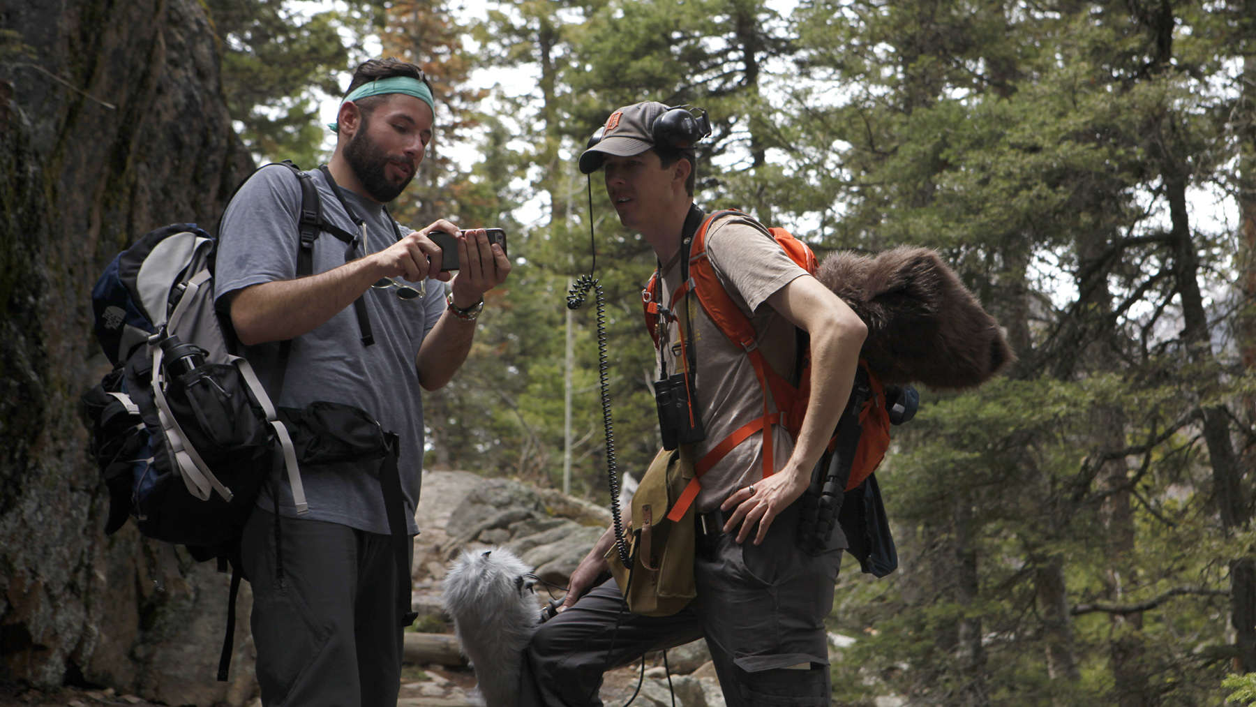 Previewing footage with Jacob Jacobson of the National Park Service