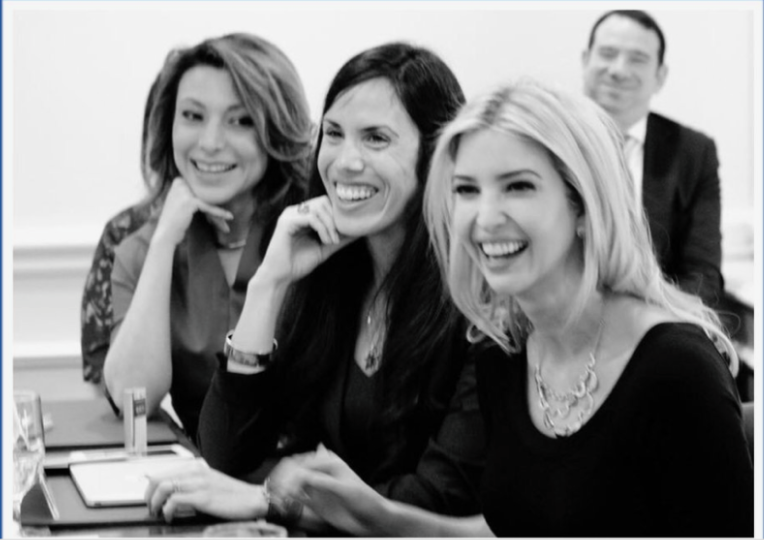 Lili Gil Valletta, Dyan Gibbens and  Ivanka Trump  at Women in Business Roundtable