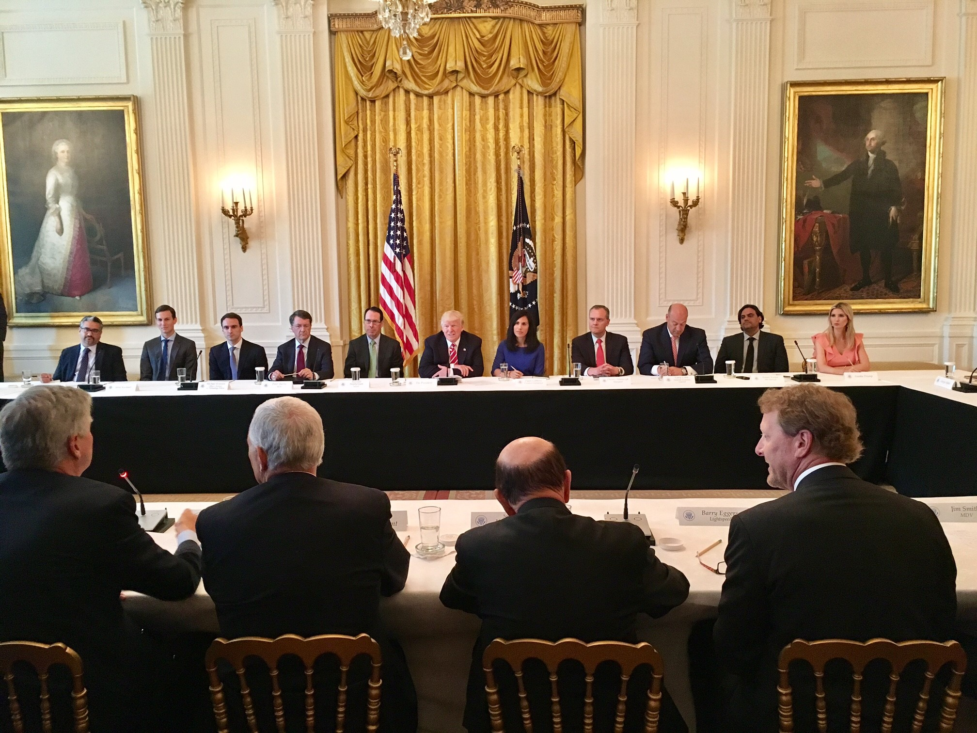 White House American Leadership in Emerging Technology  roundtable with GE, AT&T, Verizon, and others