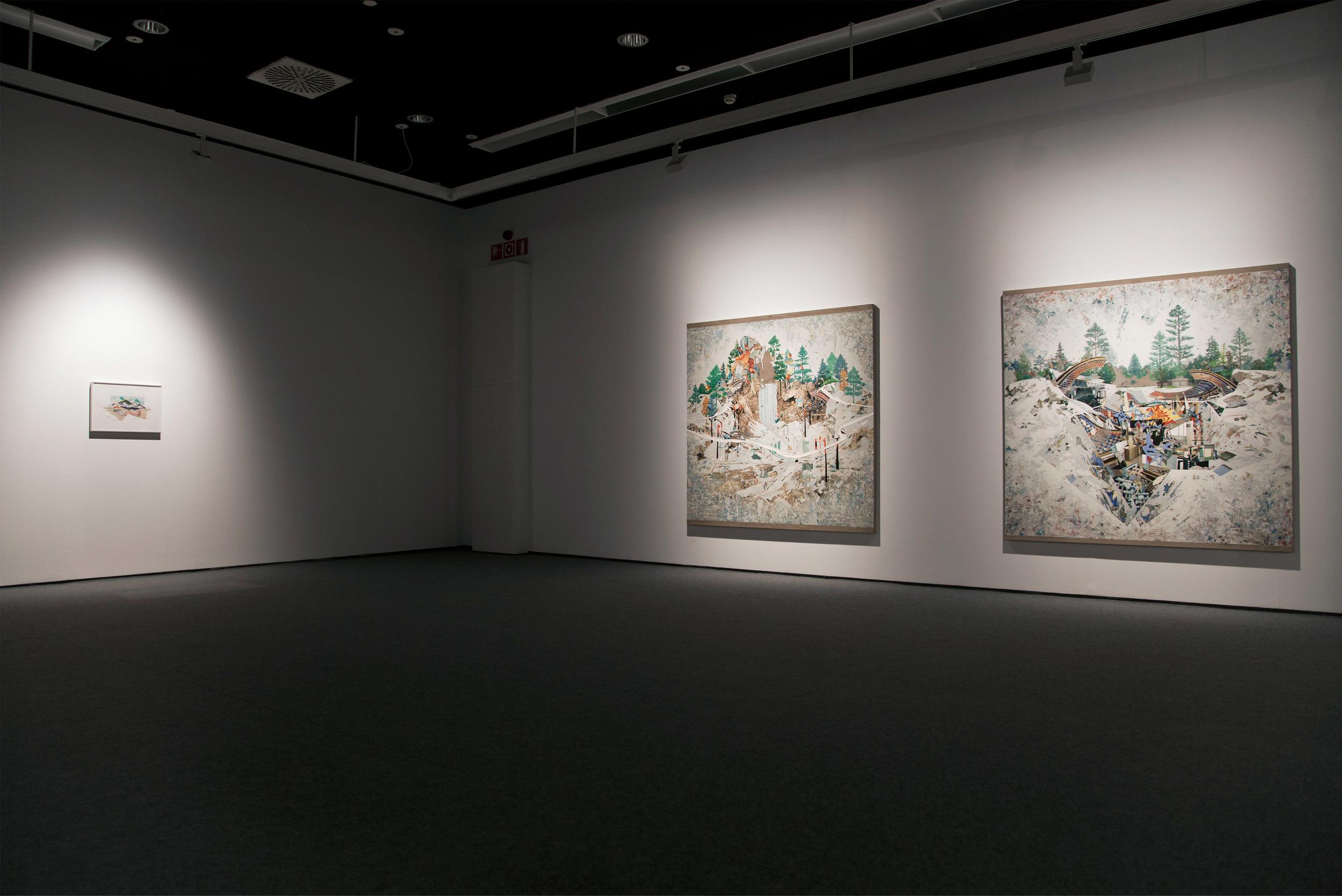 Vista de exposición  .2014. Antes de irse. 40 Ideas sobre Pintura. Museo de Arte Contemporáneo de La Coruña ( MAC), 2013.