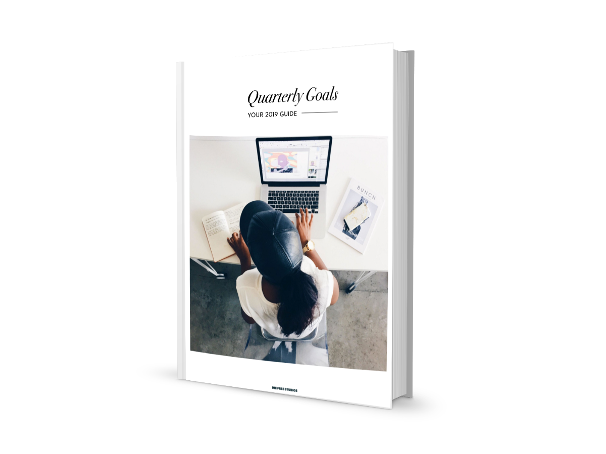 BONUS: QUARTERLY GOAL PLANNER - Here is a free guide to our internal quarterly goal setter. This keeps the larger goal in mind while breaking it down into measurable quarterly goals.