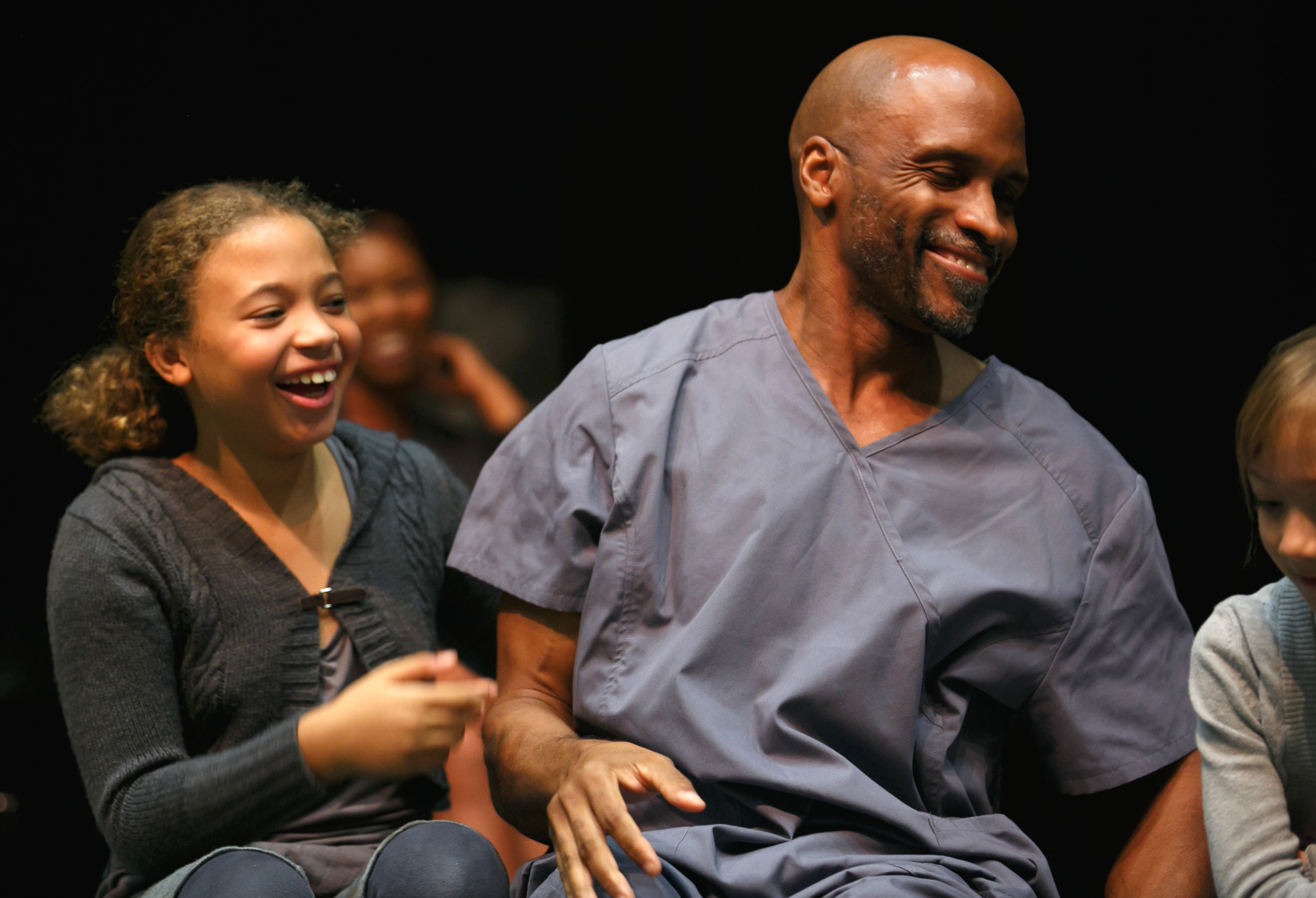 "Michael and Naomi Gibson in ""The Giver,"" DRT Nov. 2015"