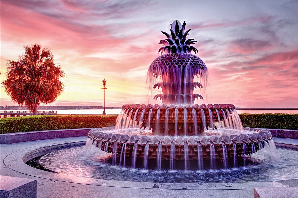 Pineapple Fountain at Waterfront Park