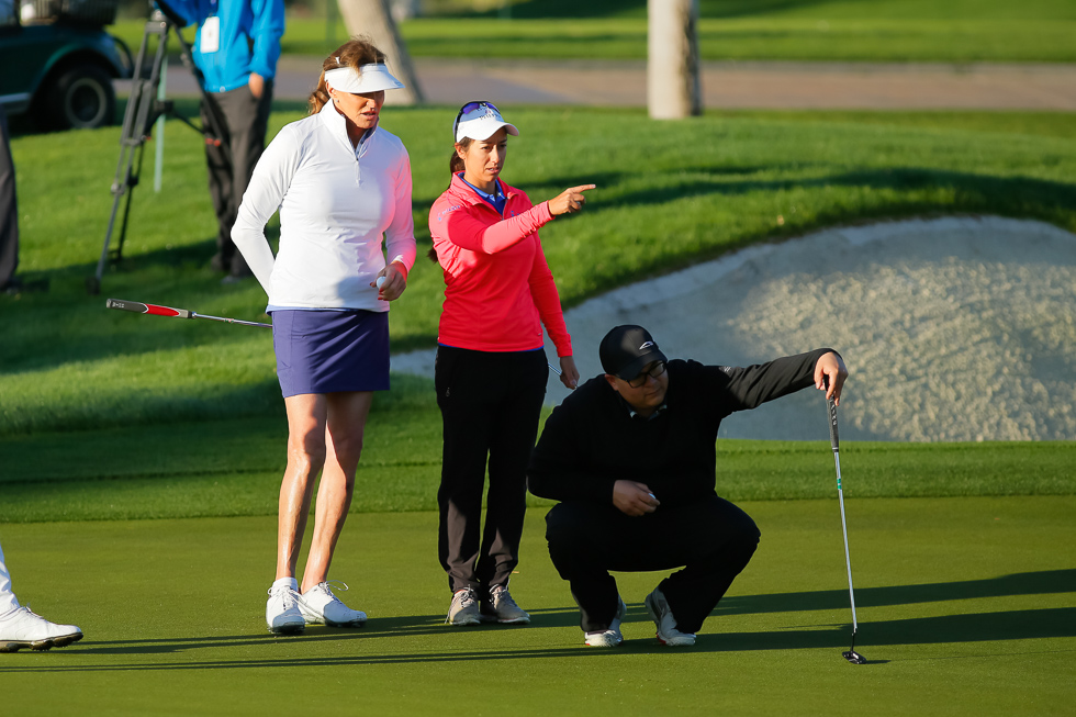 """""""Reading a putt for Marina Alex and Caitlyn Jenner. It's cool. I'm cool..."""""""