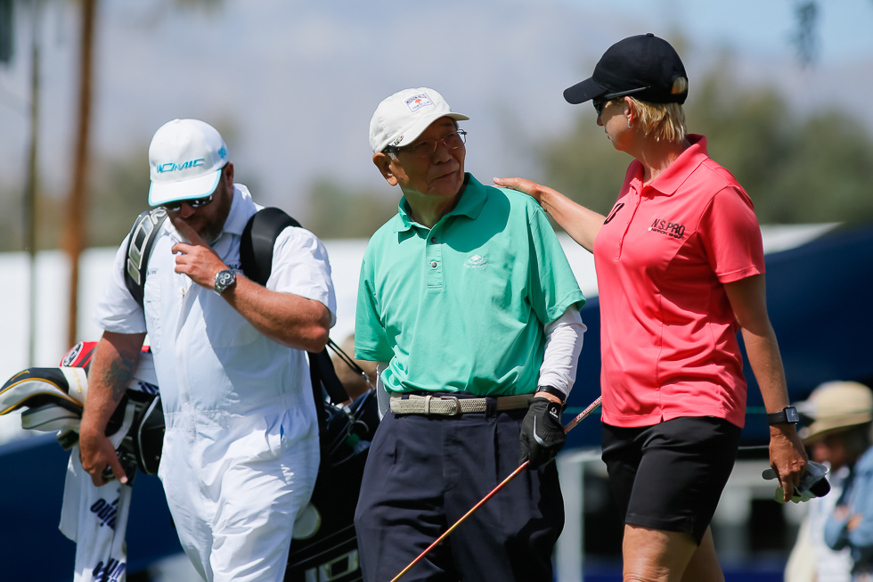 """""""Karrie Webb has her hand on my shoulder...stay calm, breathe."""""""