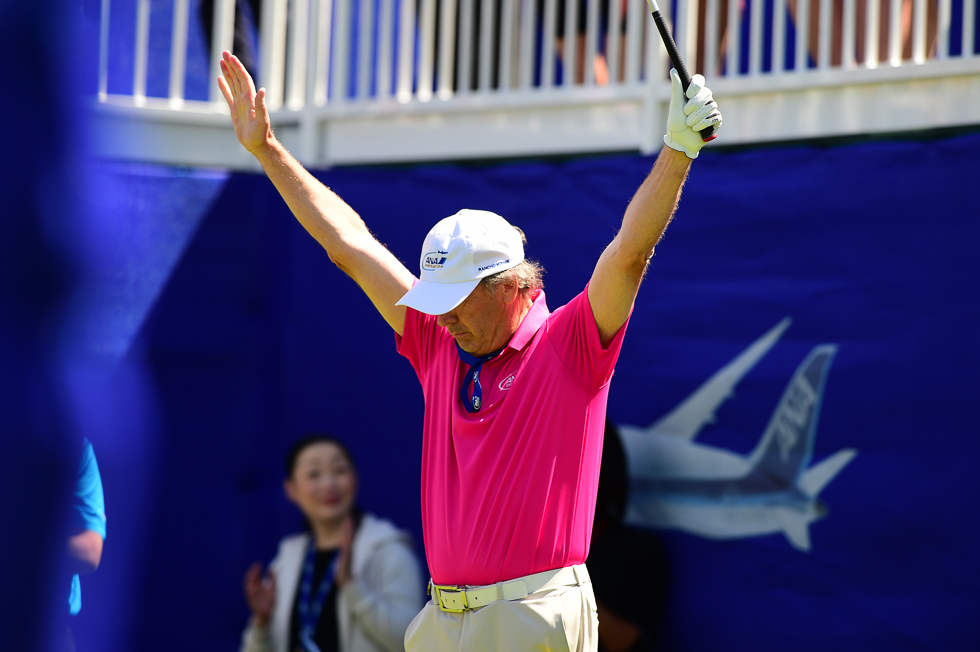 """""""They just called my name on the tee...what do I do...?!""""  *throws hands up*"""