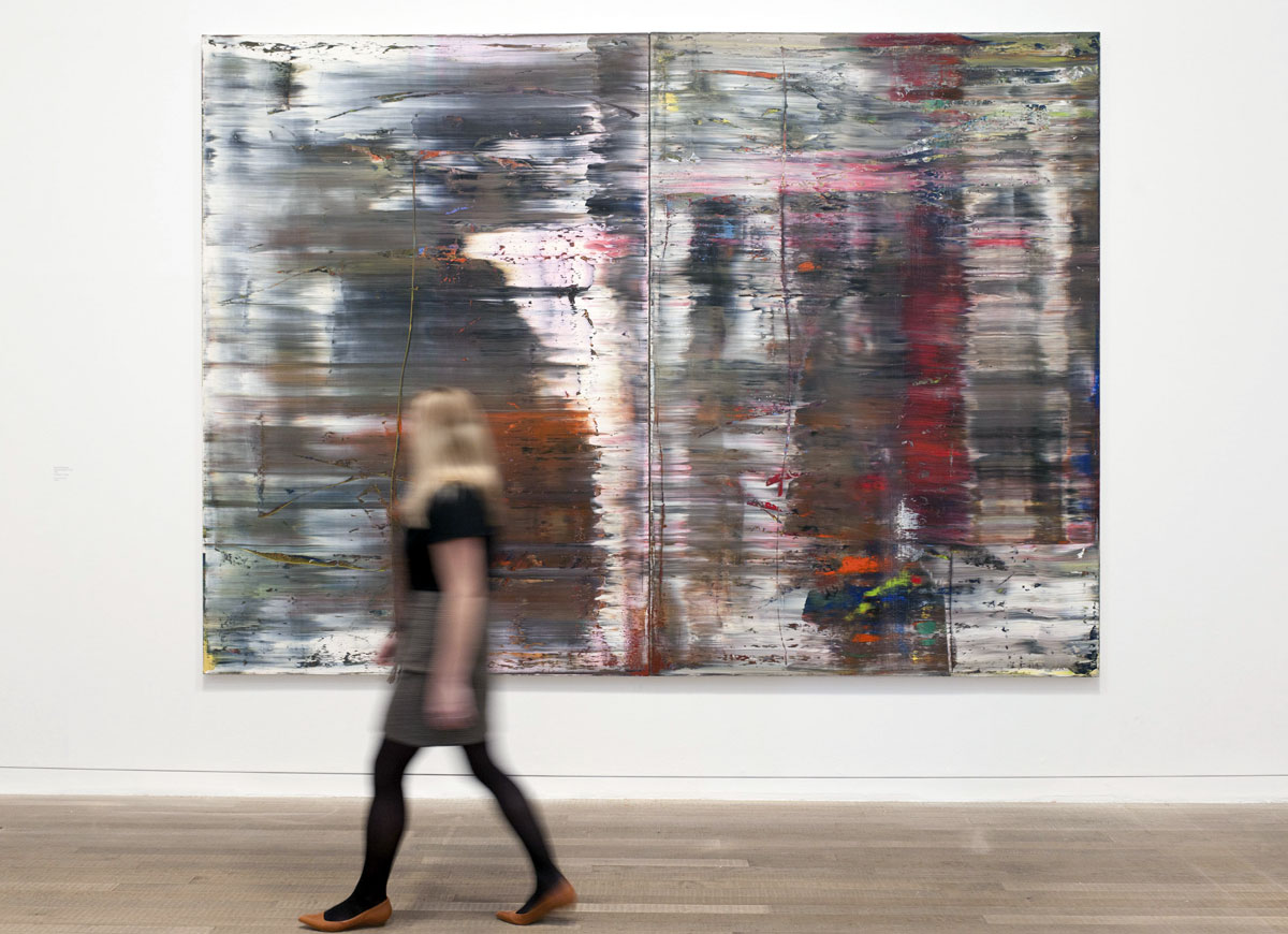 """""""Abstract Painting"""" 1990 Gerhard Richter, at the Tate Modern Exhibition 2011-2012"""
