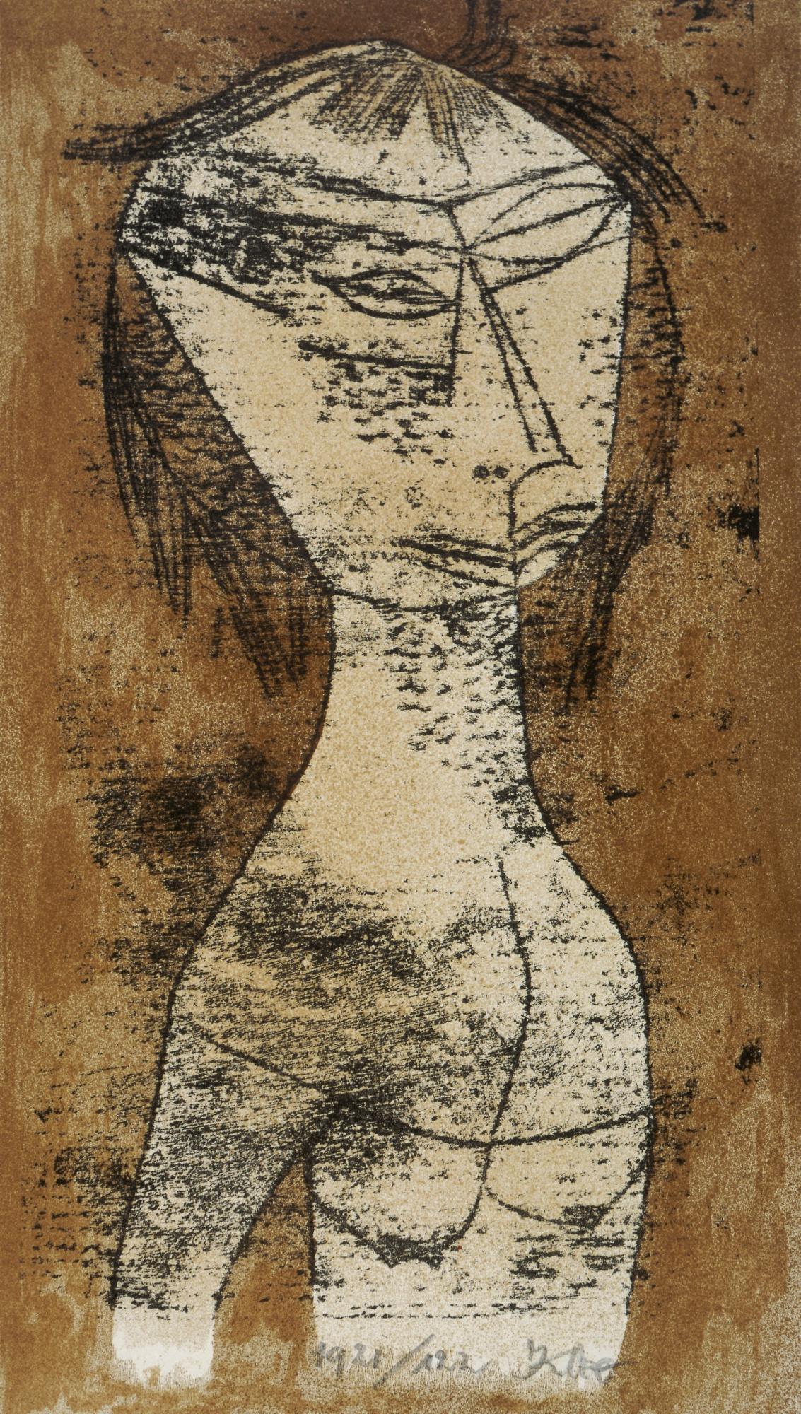 """Paul Klee's """"Saint of Inner Light"""" (Die Heilige vom innern Licht) 1921"""