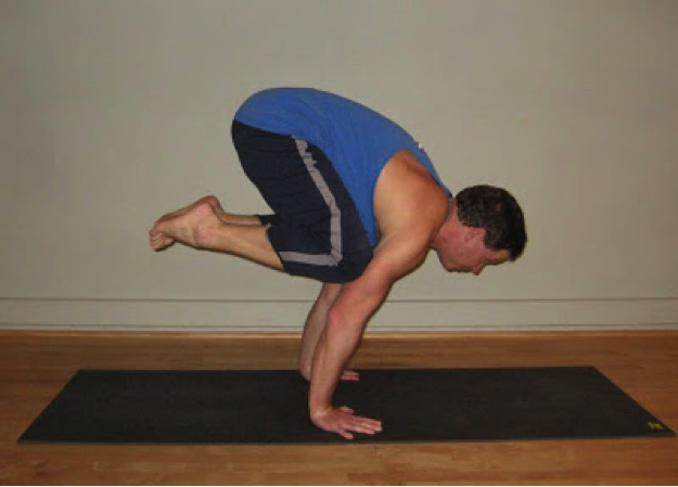 Bakasana, also known as crane or crow pose