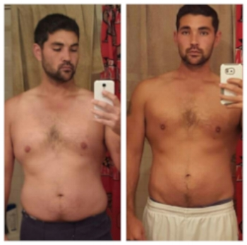Justin M.lost 19 pounds in 8 weeks.