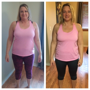 Online client Nikki S. lost 16 pounds in 12 weeks.