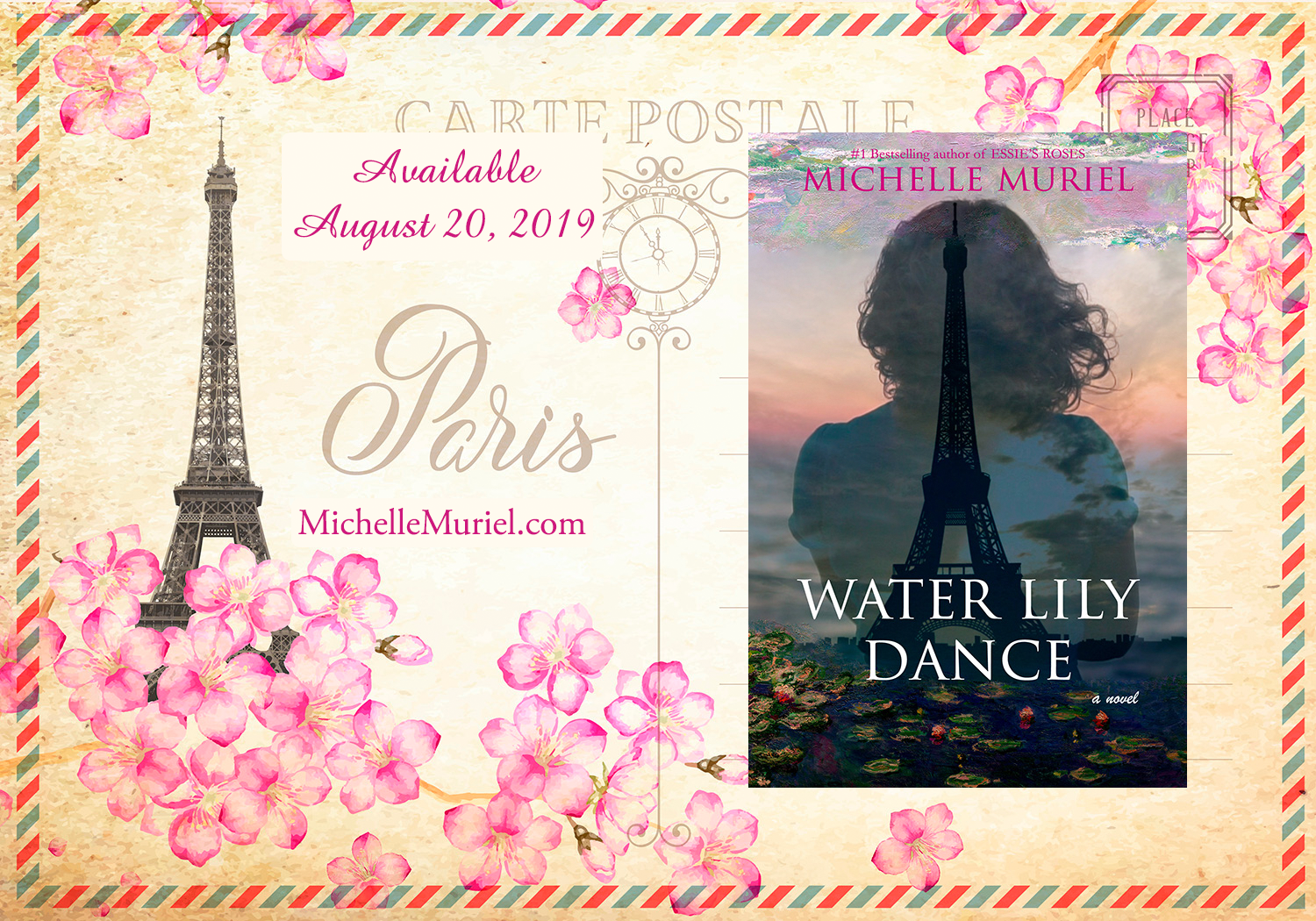 3 Paris postcard 1500 Water Lily Dance a new historical novel by Michelle Muriel.png