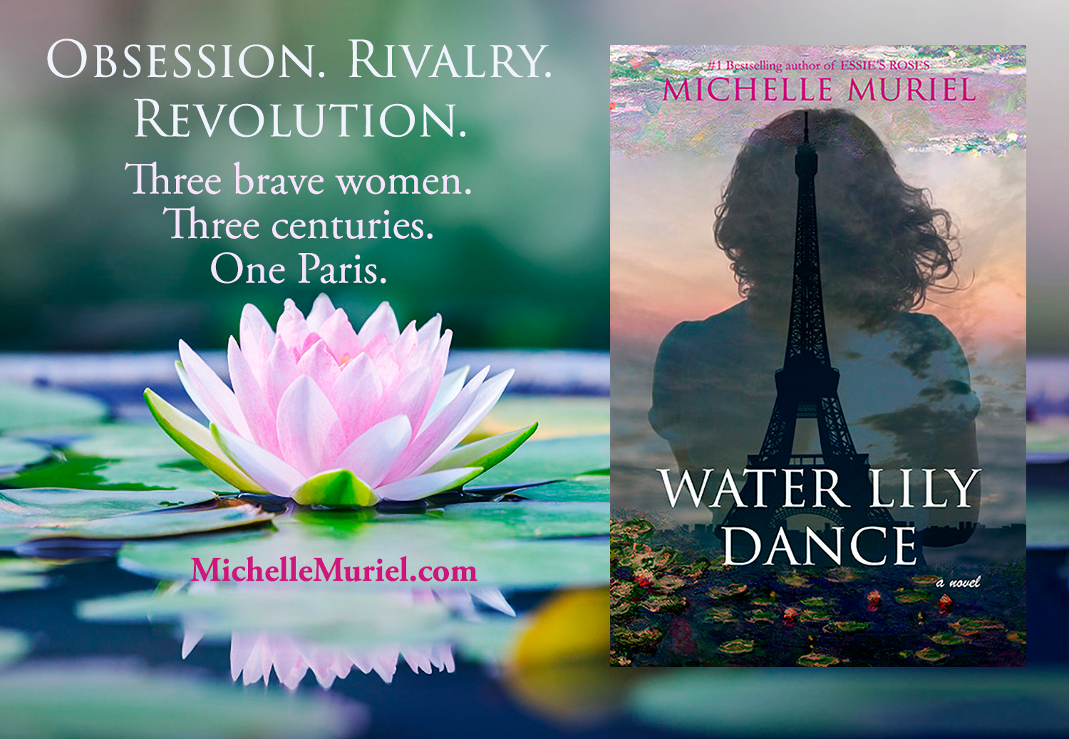 2 three women Water Lily Dance a new novel by Michelle Muriel.png