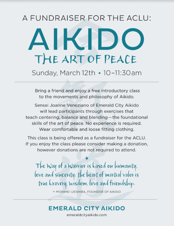 Aikido Fundraiser for the ACLU