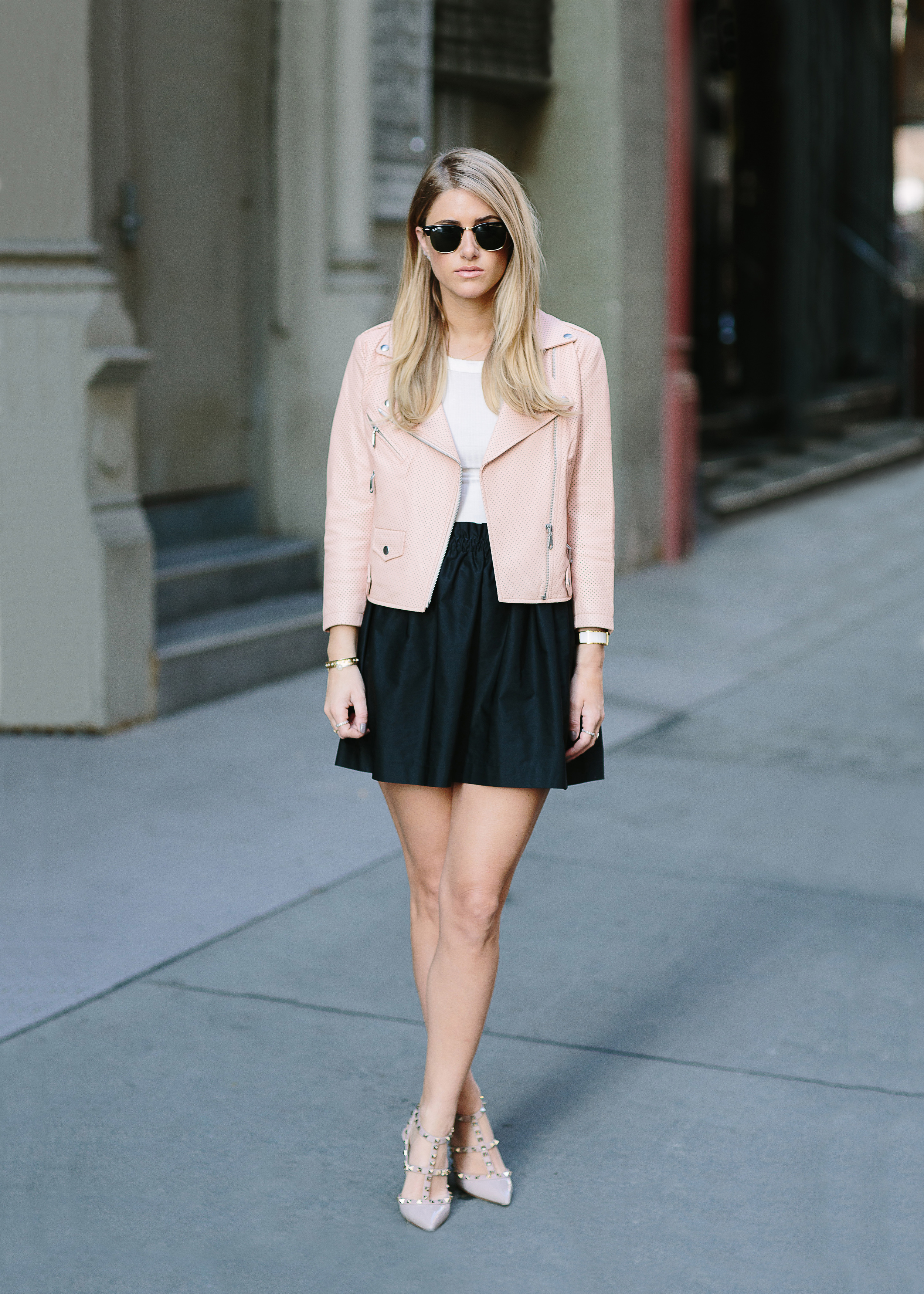 The perfect transitional office outfit.