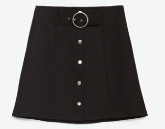 Zara A-Line Mini Skirt, $49