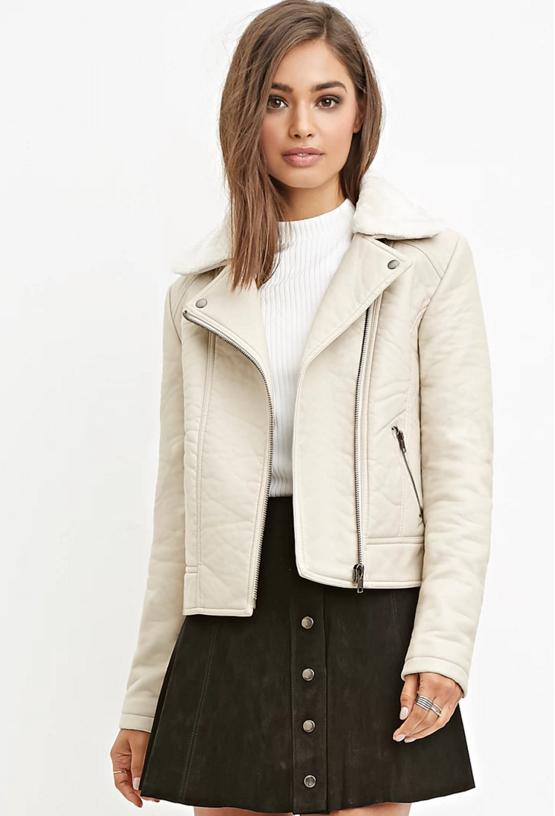 Faux leather moto jacket, $32.90