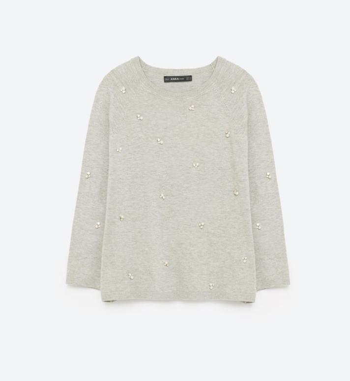 Zara Pearl Sweater, $39.90
