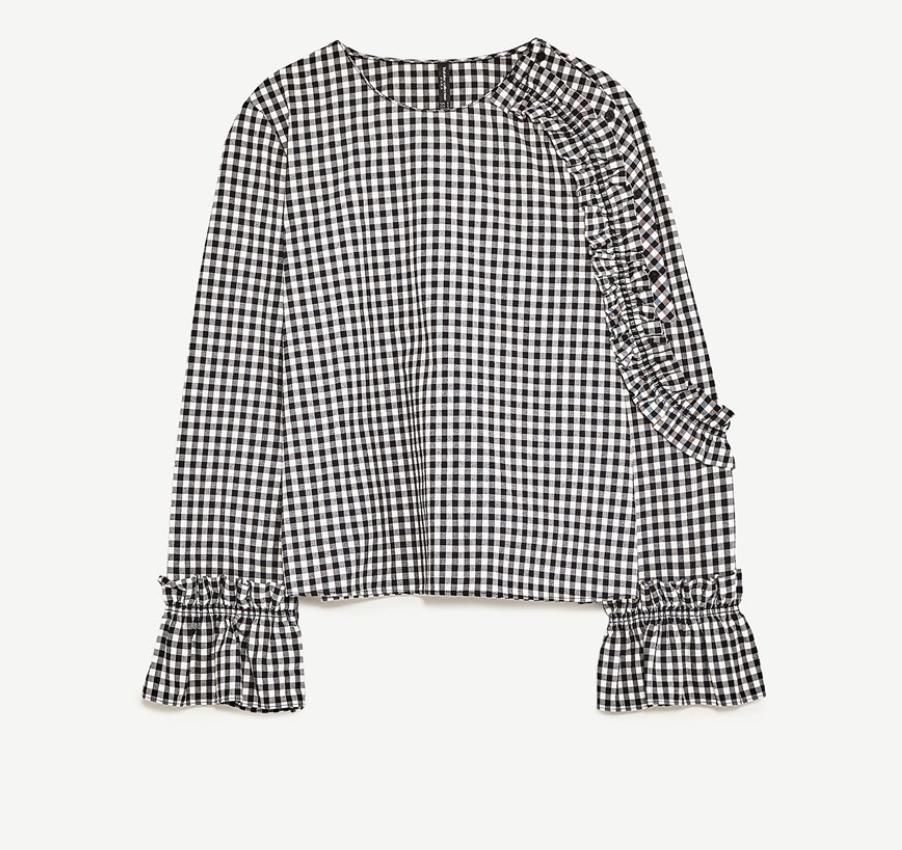 Zara Checked Top, $35.90