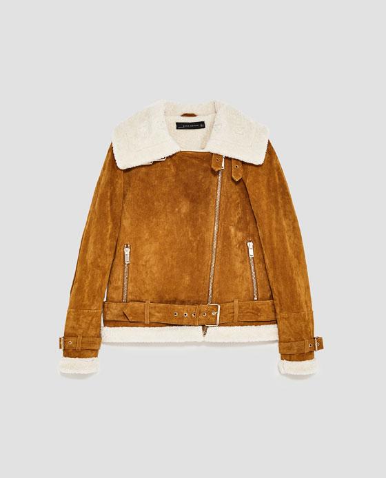 Leather Biker Jacket, $169