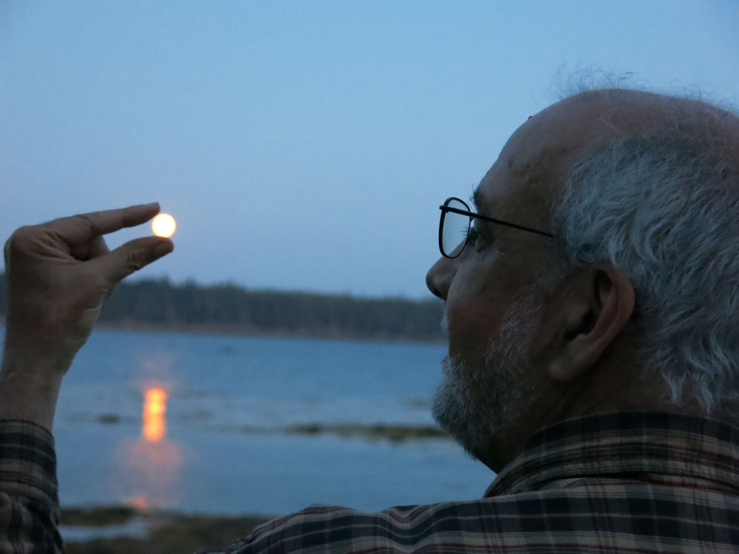 Dan McCoy of Pixar, who gave a Notebook talk on the making of the Oscar-nominated animated short La Luna, sized up La Luna while looking out from our Maine shoreline.