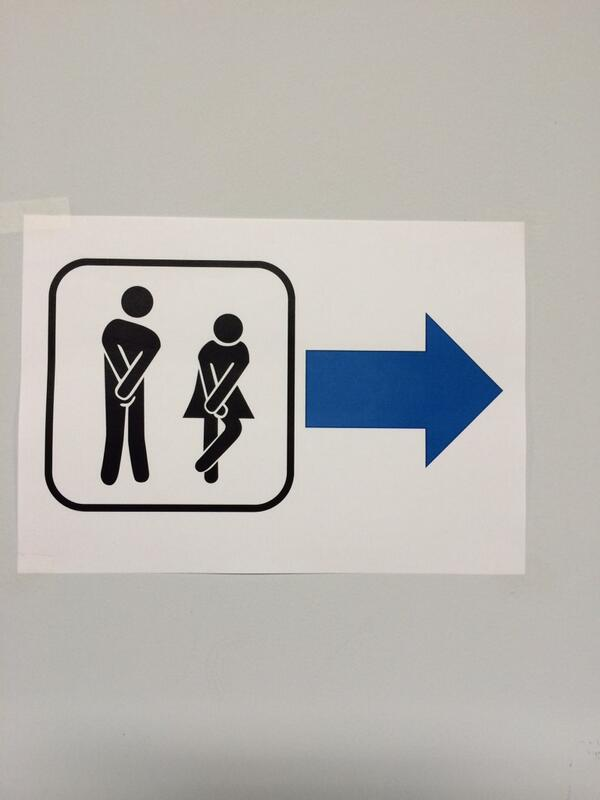 Signs in Sochi can sometimes be amusing; at least this one is easy to understand. An athlete Tweeted this out.