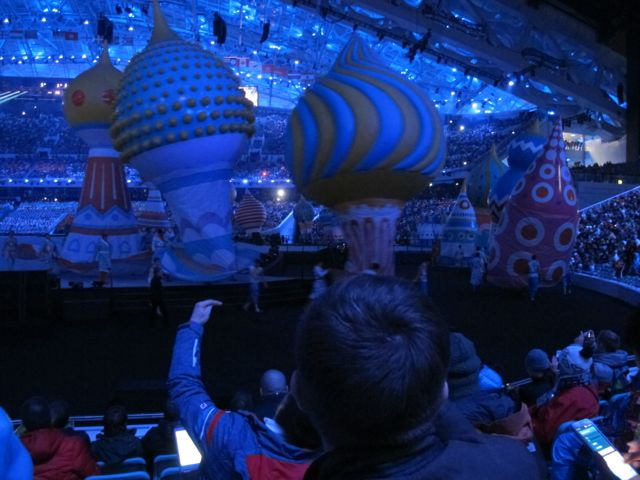 We got a close-up look at the inflatables, among other elements of the show.