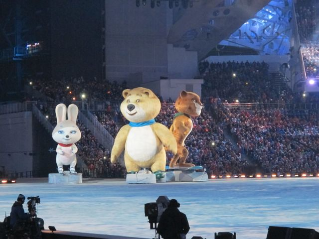 The anamatronic mascots looked great in person; hope that came through on TV.
