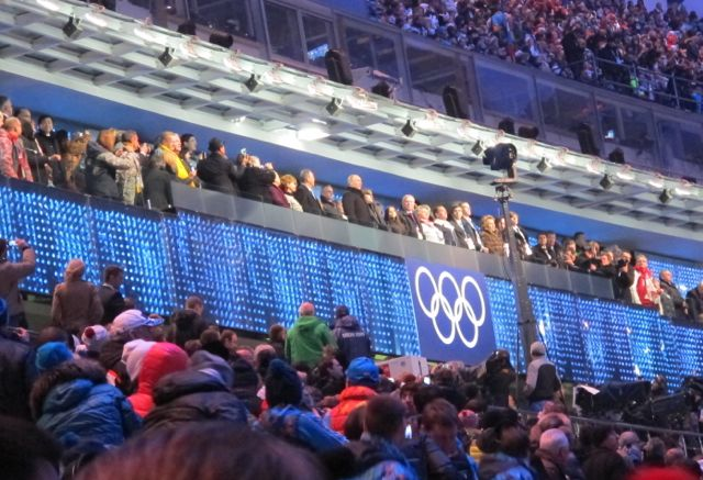 Here's how close we were to  Putin (center of photo).