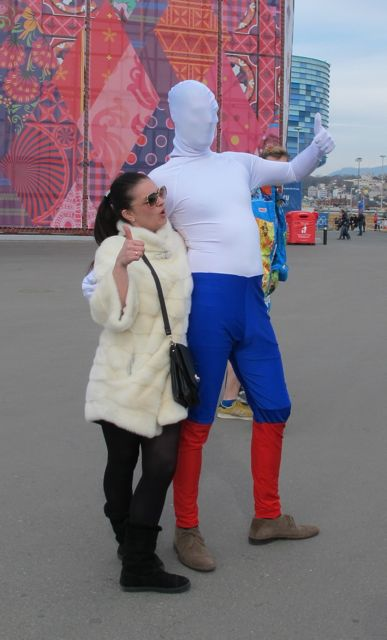 This is Russian Flag Man.