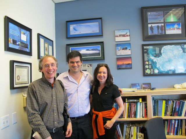 Brian (center) met with Pamelia and me in his office at the University of California at San Diego.