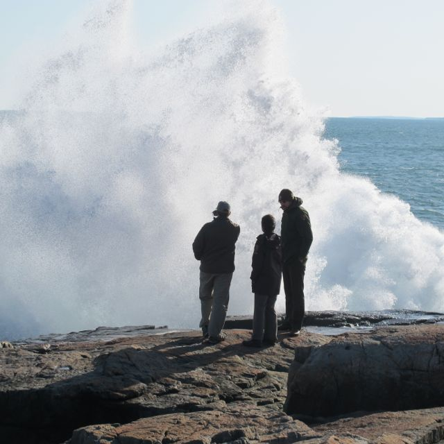 The surf at Schoodic was some of the wildest Pamelia and I have seen in this area.