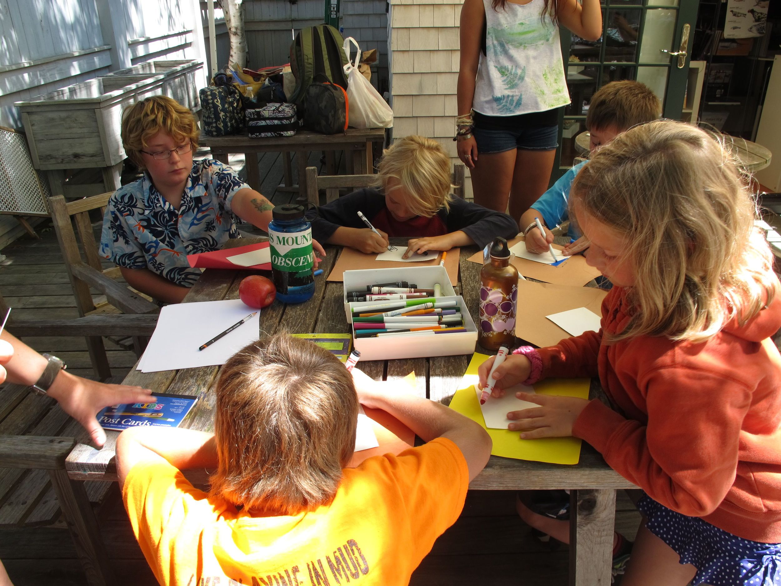 We host workshops for children and adults, many of them on our Drawing Room deck in Seal Harbor.