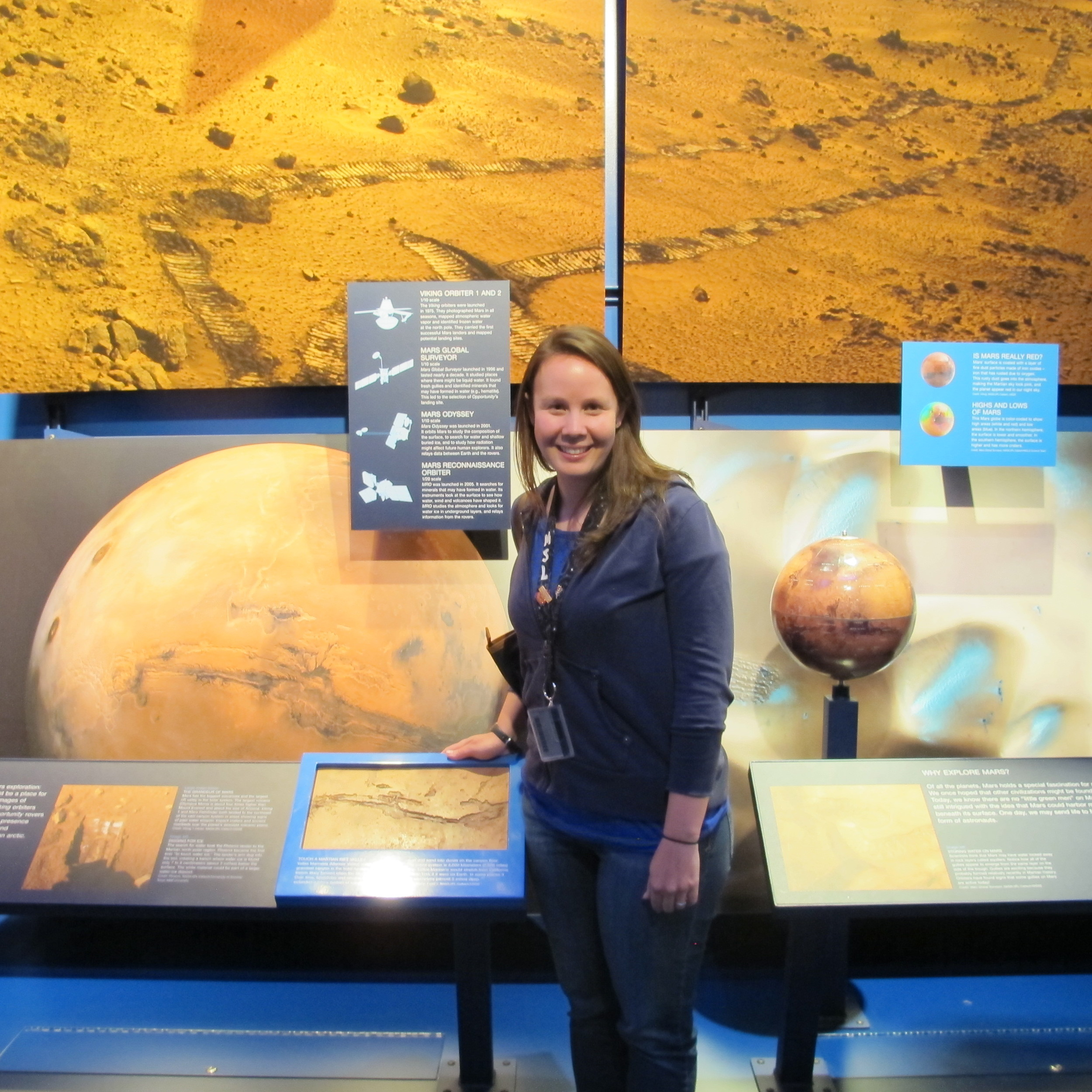 Katie gave Pamelia and me a tour of the Jet Propulsion Lab in March. That's where the Mars Rover project is based.