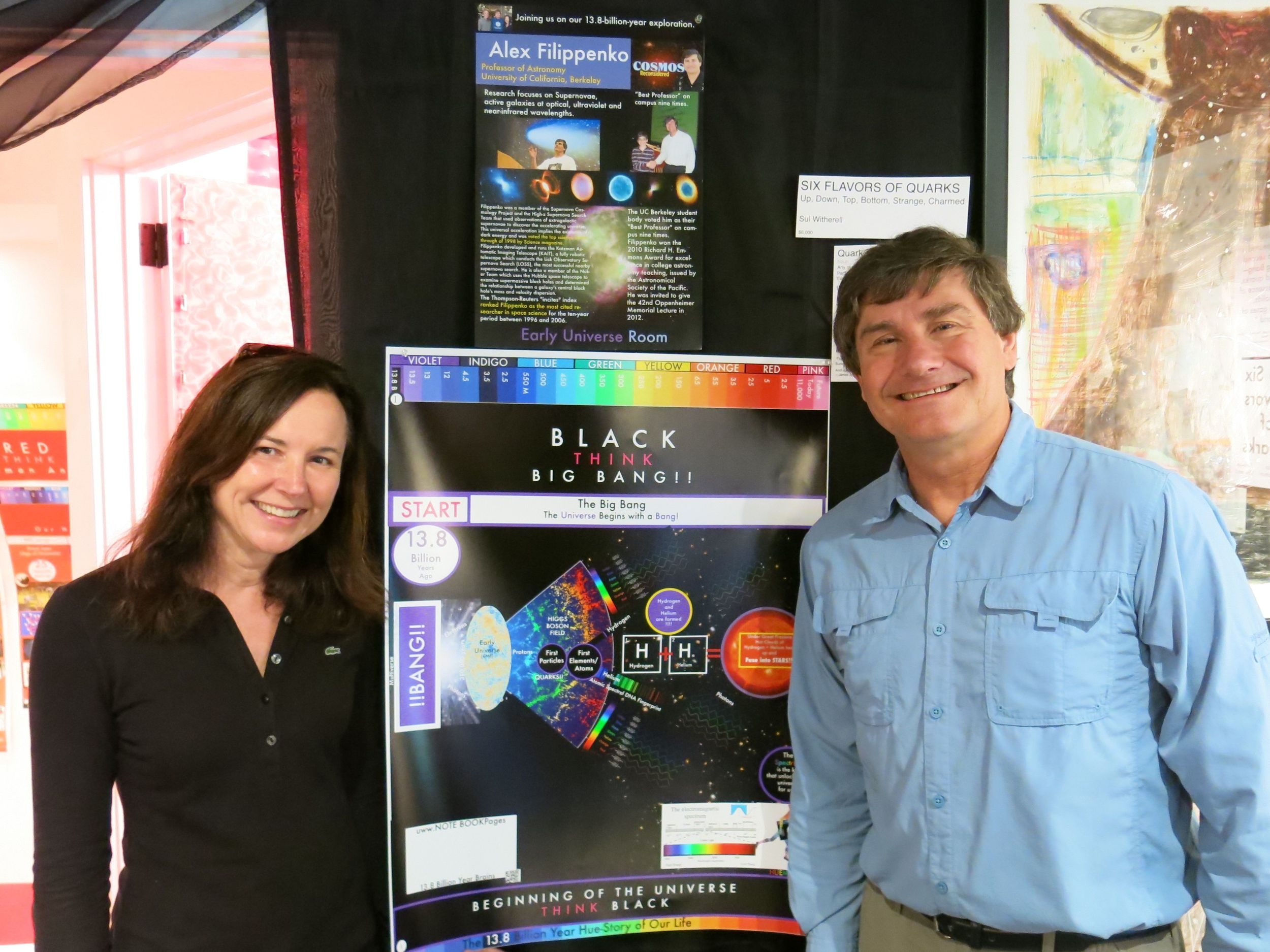 Pamelia with Alex in our Big Bang Room when he visited last September for his keynote speech at the Acadia Night Sky Festival.