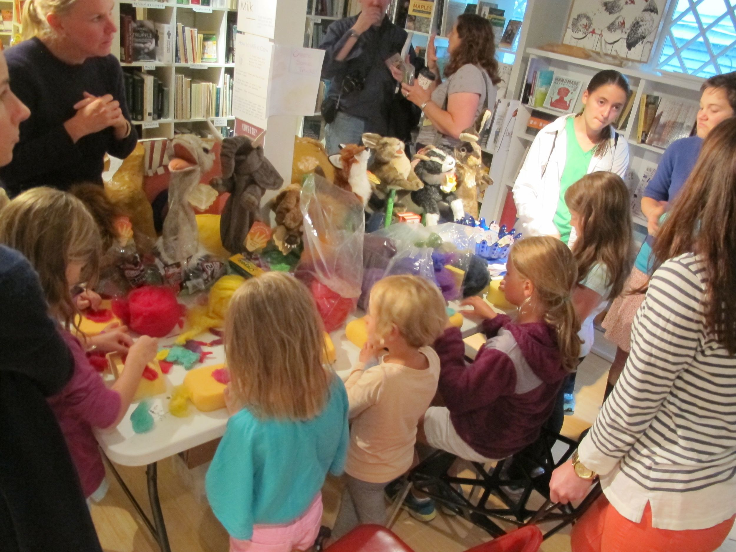 Robin led needle-felting workshops last summer at which children created ocean animals to help us build a healthy coral reef. She'll do that again as part of her workshop series.