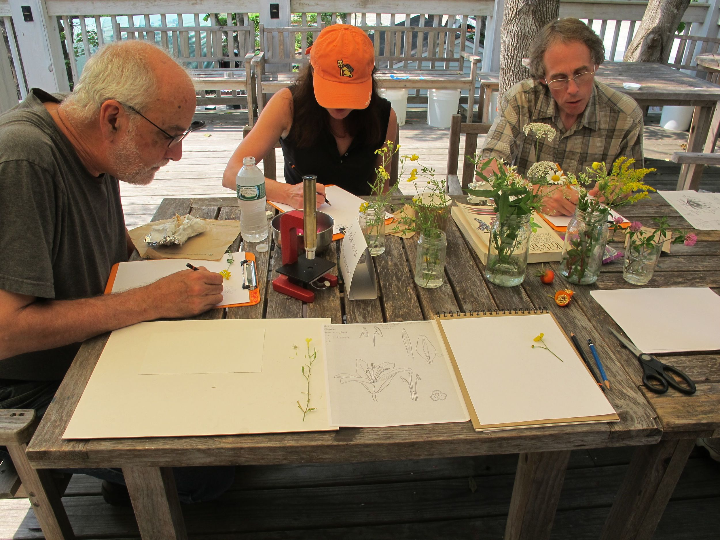Pamelia and I and animation genius Dan McCoy of Pixar took part in one of Amy's botanical drawing workshops last summer. Her class is for all ages!